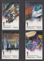 2011 Malaysia Number 1 Computers Robots  Complete Set Of 4 MNH - Maleisië (1964-...)