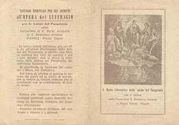 Santino Doppio S. Maria Liberatrice Anime Purgatorio Con Preghiera E Vantaggi Opera Suffragio (1166) - Images Religieuses