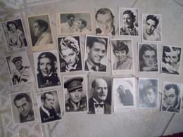 Lot De 20 Photos Ou Cpa Celébrités Acteurs Actrices Cinema Ou Autre Vintage 1930 1950 Environ Dédicace Nom Artiste - Famous People