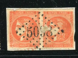 Rare Paire De N° 48 - Cachet GC 5098 Du Bureau Français De Smyrne ( Turquie ) - 1870 Emission De Bordeaux