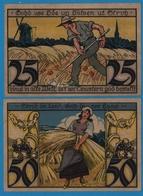 TWISTRINGEN SPARKASSE 1x25pf, 1x50pf,  28.09.1921  NOTGELD - [11] Emissions Locales