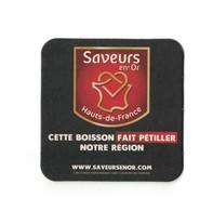 Capsules Ou Plaques De Muselet   SOUS BOCKS   SAVEURS EN 'OR HAUTS DE FRANCE  RECTO VERSO - Sous-bocks