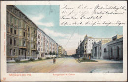AK Magdeburg Königstraße Mit Cirkus, Gelaufen 1904 - Magdeburg