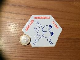 AUTOCOLLANT, Sticker «FFJDA - JUDO CLUB - FRANCHEVELLE (70)» - Autocollants