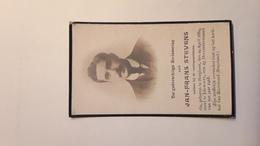 JAN FRANS STEVENS SOLDAAT BIJ DE VESTINGSARTILLERIE BORGLOON 1884 GESTORVEN IN ENGELAND IN 23.12.1918 - Imágenes Religiosas