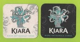 Capsules Ou Plaques De Muselet   SOUS BOCKS   BIÈRE KIARA CORSE   RECTO VERSO - Beer Mats