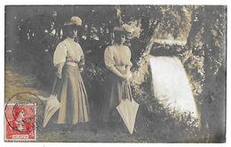 COPPET   Parc Du Château En 1908   Carte-photo Recto-verso - VD Vaud