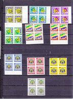 GABON SERVICE 1/10 ARMOIRIES EN BLOC DE 4 NON DENTELE - Gabon (1960-...)