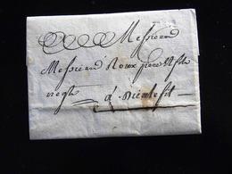 LETTRE DE CREIL POUR DIEULEFIT  -  1788  - - Postmark Collection (Covers)