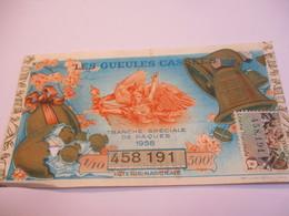 Loterie Nationale / Les Gueules Cassées/ Pâques 500 F / 1-10 éme  / 1961       LOT81 - Lottery Tickets