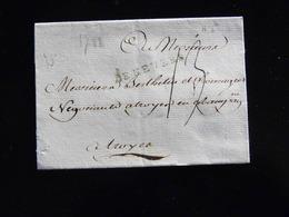 LETTRE DE NEVERS POUR TROYES  -  1782  - - Marcophilie (Lettres)