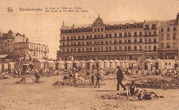 Blankenberghe - La Plage Et L'hôtel De L'Océan - Blankenberge