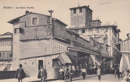 FIRENZE-SUL PONTE ARNO-ANIMATISSIMA-CARTOLINA  NON VIAGGIATA ANNO 1910-1920 - Firenze