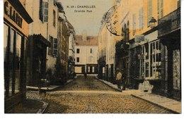 Saône Et Loire CHAROLLES Grande Rue (carte Toilée Et Colorisée) - Charolles