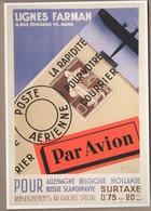 ENTIER POSTAL AEROPOTALE LIGNES FARMAN. CADEAU DE LA POSTE VOIR SCANS - Entiers Postaux