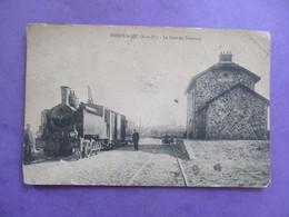 CPA 91 BOISSY LE SEC LA GARE DU TRAMWAY TRAMWAY TRAIN ANIMEE - France