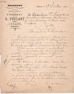 CHARBONS G. FOUCART - 0. RETOURNE & CIE - AMIENS - GILLY - 17 JUILLET 1891. - France