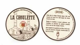 Capsules Ou Plaques De Muselet   SOUS BOCKS  BIÈRE  LA CHOULETTE  RECTO VERSO - Sous-bocks