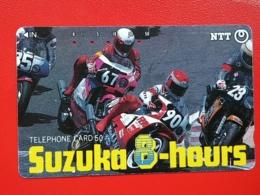 T-146 JAPAN -JAPON, PHONECARD MAGNETIC NTT - Moto, Motorbike Suzuki, Suzuka 8 Hours, 290-186 - Motorräder