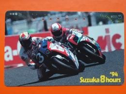 T-146 JAPAN -JAPON, PHONECARD MAGNETIC NTT - Moto, Motorbike Suzuki, Suzuka 8 Hours, 291-256 - Motorräder