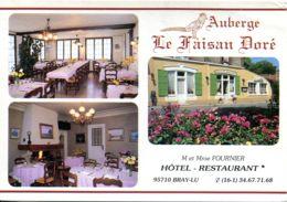 """N°4439 T -cpsm Bray-Lu -auberge """"le Faisan Doré"""" - Hotels & Gaststätten"""