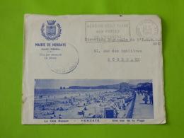 Hendaye - Basses Pyrénées - Flamme Sécap Hendaye Belle Plage Aux Portes De L'Espagne - Mairie - 1921-1960: Modern Tijdperk