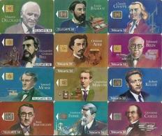 Lot - Phonecards - Grandes Figures Des Télécommunications - Série Complète De 12 Télécartes - Personnages