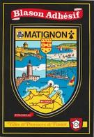 CPSM  22 MATIGNON BLASON ADHESIF - France