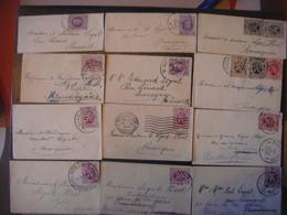 Lot De 46 Mini Enveloppes ( Avec Timbre Timbres Philatélie Belgique ) - Manuscrits