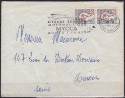 Marianne De Cocteau 20c  LA PAIRE   Sur Enveloppe De CANNES  A.Mmmes    Postée Le 13 8 1962 - 1961 Marianne De Cocteau