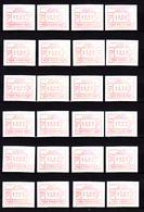 Belgique1 983, 50 timbres Distributeurs Avec N° Identification, ATM N° 3007 / 3056**, Faciale 500 FB, - 1980-99
