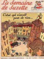 LA SEMAINE DE SUZETTE- 25 NOVE. 1954- N° 52 ESCALE A ZANZIBAR-BONS POINTS - La Semaine De Suzette