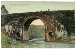 MAESTEG : OLD BRIDGE / POSTMARK - MAESTEG / ADDRESS - LONDON, DUFFERIN STREET, BUNHILL ROW, PEABODY BLDGS - Glamorgan