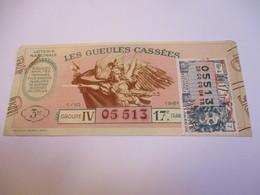 Loterie Nationale / Les Gueules Cassées/ Groupe IV  17 éme Tranche/ 1-10 éme  / 1961       LOT58 - Lottery Tickets