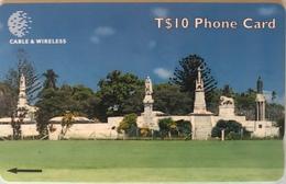 TONGA  -  Phonecards  - Cable § Wireless  - Nuku'alofa  -  T$10 - Tonga
