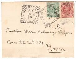 IZ389    Regno Annullo Per Paese Nigoline Tondo-riquadrato 23-5-1908 - Poststempel