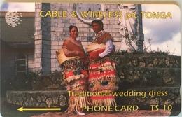 TONGA  -  Phonecards  - Cable § Wireless  - Tradition Wedding Dress  -  T$10 - Tonga
