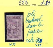 Belgique 1933, Antituberculeux, Croix De Lorraine, Cote 480 € - Belgique