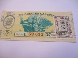 Loterie Nationale / Les Gueules Cassées/ Groupe II  34  éme Tranche/ 1-10 éme  / 1961       LOT64 - Lottery Tickets