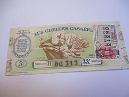 Loterie Nationale / Les Gueules Cassées/ Groupe II  33  éme Tranche/ 1-10 éme  / 1961       LOT65 - Lottery Tickets