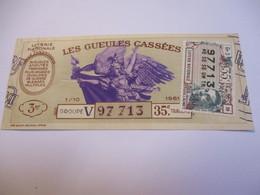 Loterie Nationale / Les Gueules Cassées/ Groupe V  35  éme Tranche/ 1-10 éme  / 1961       LOT66 - Lottery Tickets