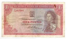 Rhodesia 1 Dollar 1968, Crisp VF With Stains. - Rhodesia