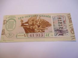 Loterie Nationale / Les Gueules Cassées/ Groupe VI   41 éme Tranche/ 1-10 éme  / 1961       LOT71 - Lottery Tickets