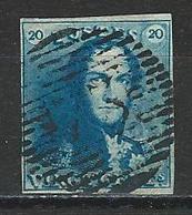 Belgien Mi 2 O Used - 1849 Hombreras