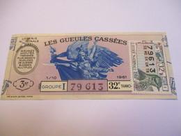 Loterie Nationale / Les Gueules Cassées/ Groupe I   32 éme Tranche/ 1-10 éme  / 1961       LOT72 - Lottery Tickets