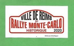 AUTOCOLLANT - RALLYE MONTE CARLO Historique 2020 - Reims - Aufkleber