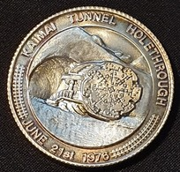 New Zealand - Kaimai Tunnel Holethrough June 21st 1976 (silver) - Souvenirmunten (elongated Coins)