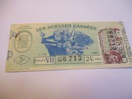 Loterie Nationale / Les Gueules Cassées/ Groupe VII  24 éme Tranche/ 1-10 éme  / 1961       LOT76 - Lottery Tickets