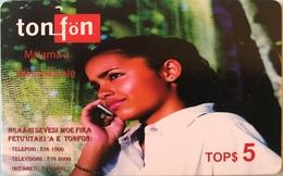 TONGA  -  Phonecards  - Ton-fön - TOPS5 - Tonga