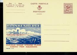 Publibel Neuve N° 1718 ( BLANKENBERGE - Casino - Pier - Aquarama- Plage) - Enteros Postales